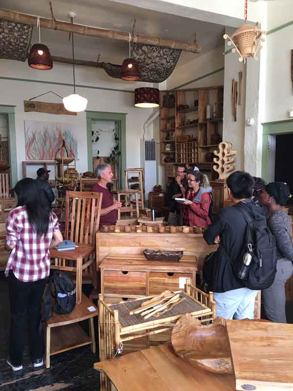 Fellows engage with Tropical Salvage Founder
